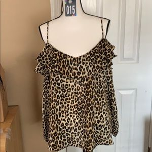 Fashion to figure leopard blouse